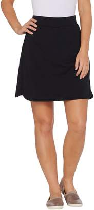 Denim & Co. Active Curved Hem Knit Skort with Pockets