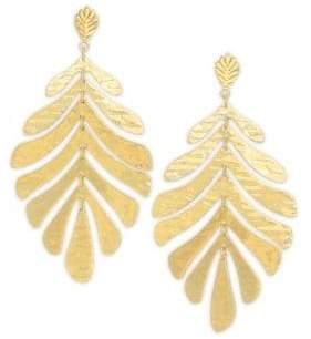 Kate Spade Statement Leaf Earrings