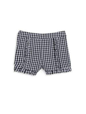 Design History Girl's Gingham Ruffle Shorts