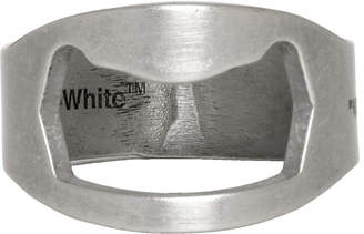 Off-White Off White Silver Utility Ring