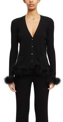 Opening Ceremony Feather Cardigan