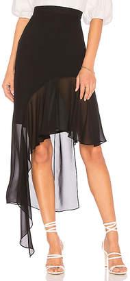 BCBGMAXAZRIA Asymmetrical Ruffle Skirt