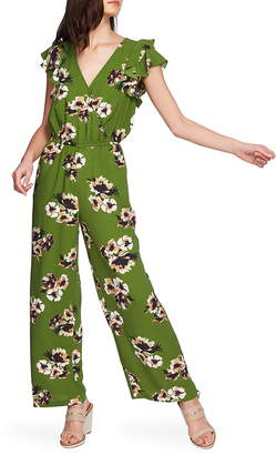 1 STATE 1.STATE Mirage Wrap Front Flounce Sleeve Jumpsuit