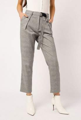 Azalea Belted Plaid Pants