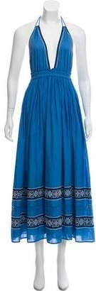 LoveShackFancy Halter Maxi Dress