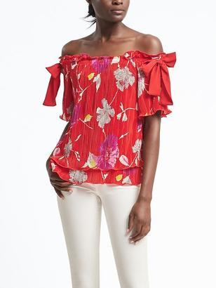 Floral Off-Shoulder Top $54 thestylecure.com