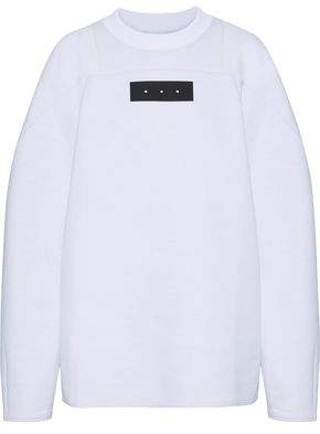 Y-3 +adidas Oversized Appliquéd Cotton-Blend Sweatshirt
