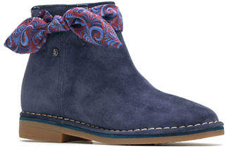 Hush Puppies Cyra Bow Suede Booties