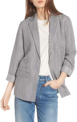Cupcakes And Cashmere Dove Stripe Blazer
