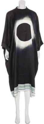 Maison Margiela Long Sleeve Printed Midi Dress Black Long Sleeve Printed Midi Dress