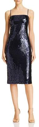 Eliza J Sequined Cocktail Dress