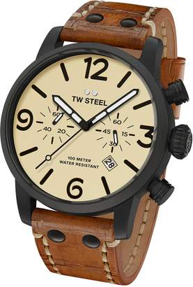TW Steel Men's MS44 Maverick Analog Display Quartz Brown Watch