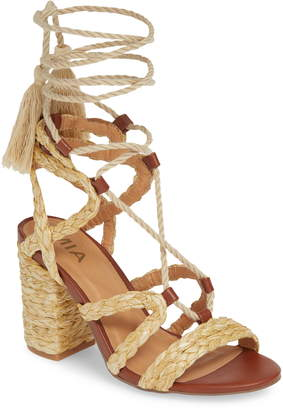 Mia Renita Raffia Wraparound Sandal