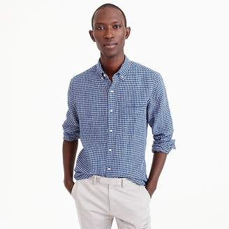 J.Crew Slim Irish linen shirt in check