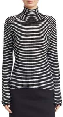 Piazza Sempione Stripe Knit Turtleneck