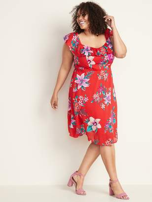 Old Navy Ruffled Fit & Flare Plus-Size Cami Dress