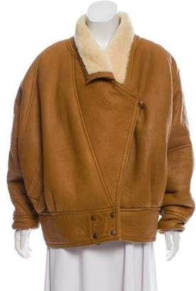 Andrew Marc Leather Shearling-Lined Jacket