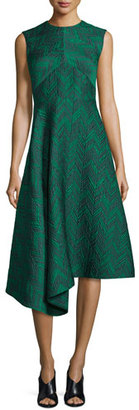 Jason Wu Sleeveless Herringbone Cocktail Dress, Jade $2,495 thestylecure.com