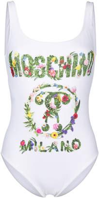 Moschino floral logo one piece