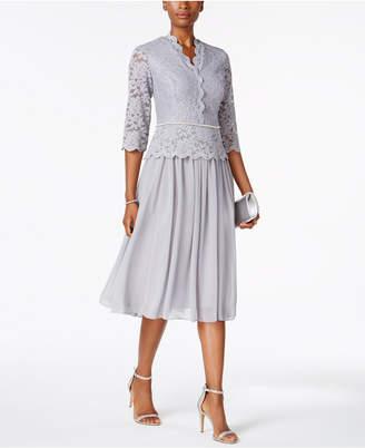Alex Evenings Lace Three-Quarter-Sleeve Dress $199 thestylecure.com