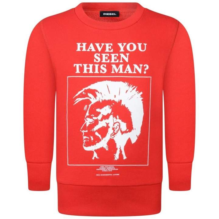 DieselBoys Red Have You Seen This Man? Sweater