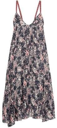 Etoile Isabel Marant Joany Asymmetric Printed Chiffon Slip Dress