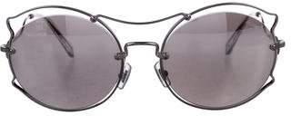 Miu Miu Tinted Round Sunglasses