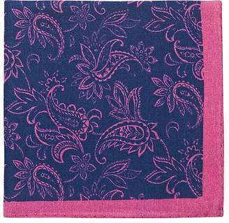 Barneys New York Men's Paisley Wool-Cashmere Pocket Square