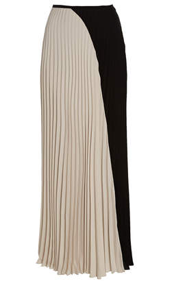 1a85a39eaf Noon By Noor Avalon Pleated Color Block Maxi Skirt