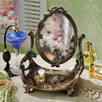 Toscano Design Guimard Art Nouveau Vanity Table Mirror with Stand