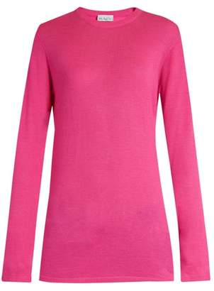 Raey Long Line Fine Knit Cashmere Sweater - Womens - Pink
