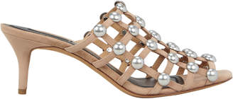 Alexander Wang Sofia Low Heel Cage Sandals
