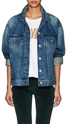 3x1 Women's Bijou Chain-Detail Denim Jacket