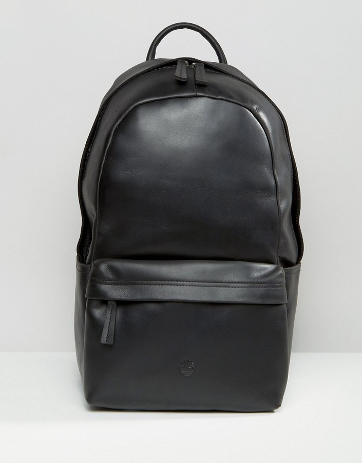 Timberland Timberland Leather Backpack Black