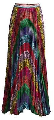 Alice + Olivia Women's Katz Ribbon Stripe Pleated Skirt - Size 0