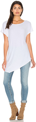 Michael Stars 2x1 Wide Neck Asymmetrical Tunic $88 thestylecure.com