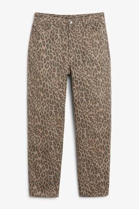 Monki Taiki leopard jeans