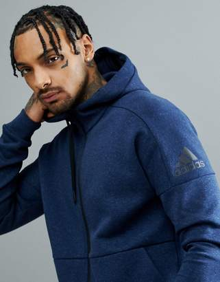 adidas Athletics stadium full zip hoodie in navy cg2089