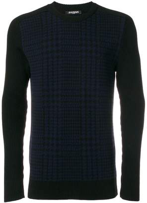 Balmain Prince of Wales checked jumper
