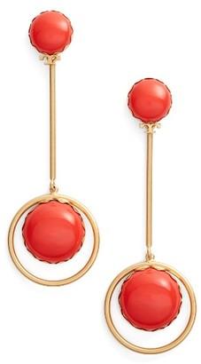 Women's Tory Burch Linear Drop Earrings $150 thestylecure.com