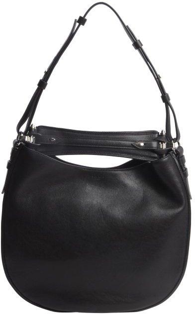 Givenchy black leather 'Obsedia' medium hobo shoulder bag