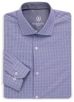 Bugatchi Woven Cotton Plaid Dress Shirt