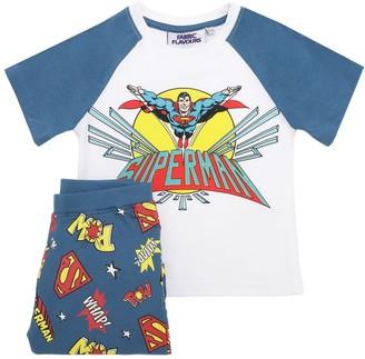 Fabric Flavours Superman Print Jersey T-shirt & Shorts