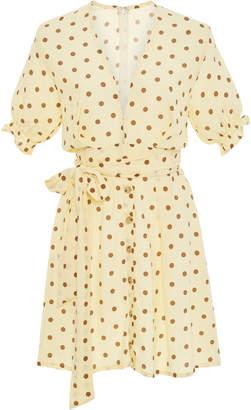 Faithfull The Brand Vanelli Belted Polka-Dot Voile Mini Dress