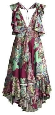 PatBO Samba Flutter-Sleeve T-Back Dress