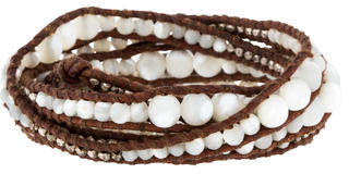 Chan LuuChan Luu Sterling Mother of Pearl Wrap Bracelet