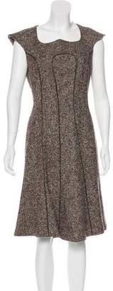 Charlotte Brody Knee-Length Tweed Dress
