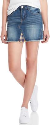 Dollhouse Plaid Trim Mini Skirt
