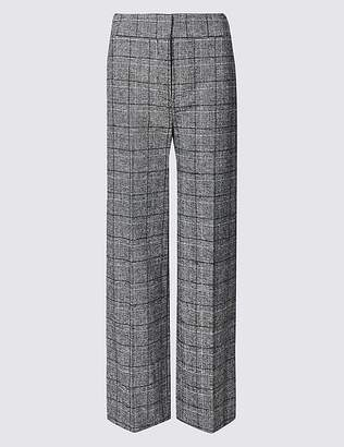 Marks and Spencer Checked Wide Leg Trousers