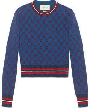 Gucci Lurex GG jacquard sweater